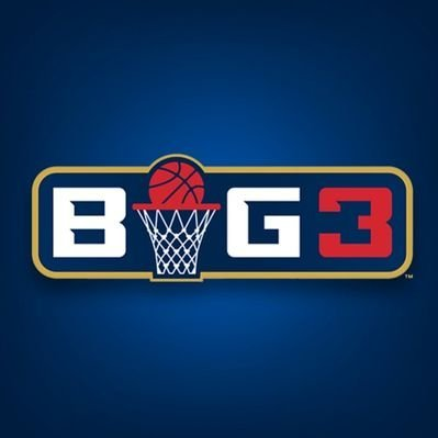 Name BIG3 with a basketball and goal in place of letter I