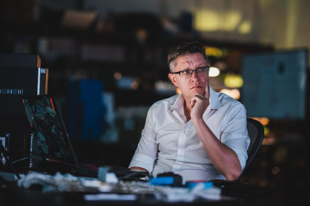 Beeple in a pensive mood