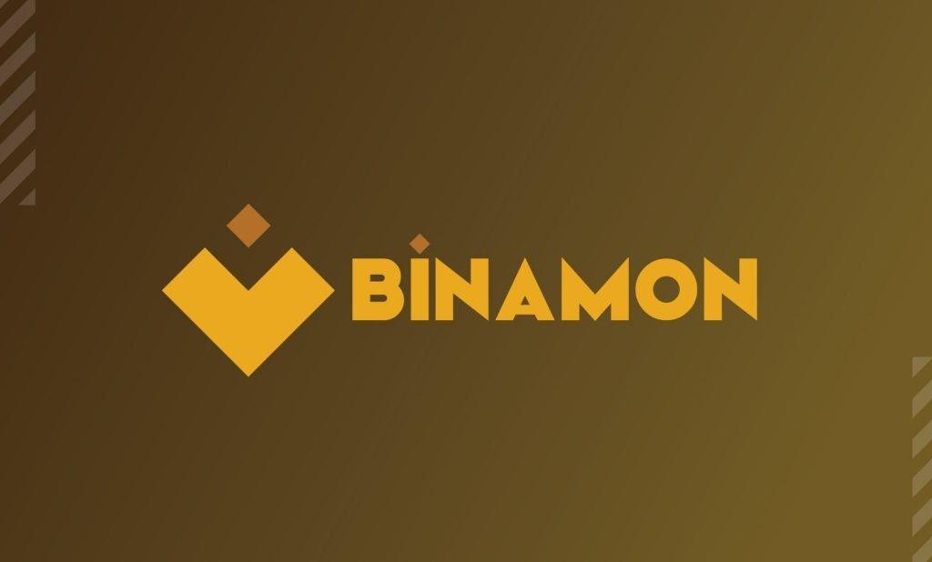 the word Binamon with diamond-like graphic