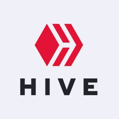 Red cube with patterns above word HIVE