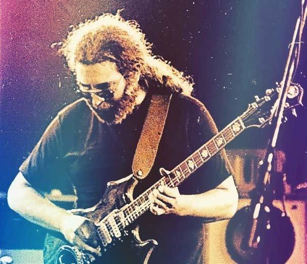 jerry garcia playing guitar through cosmic haze