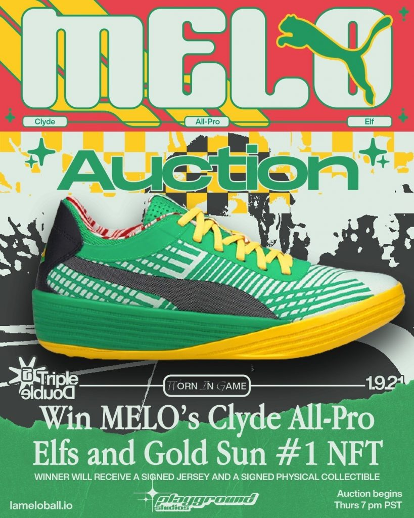 poster with historic basketball shoe