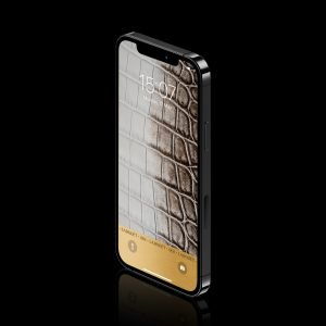 mobile phone with crocodile leather photo wallpaper from labodet