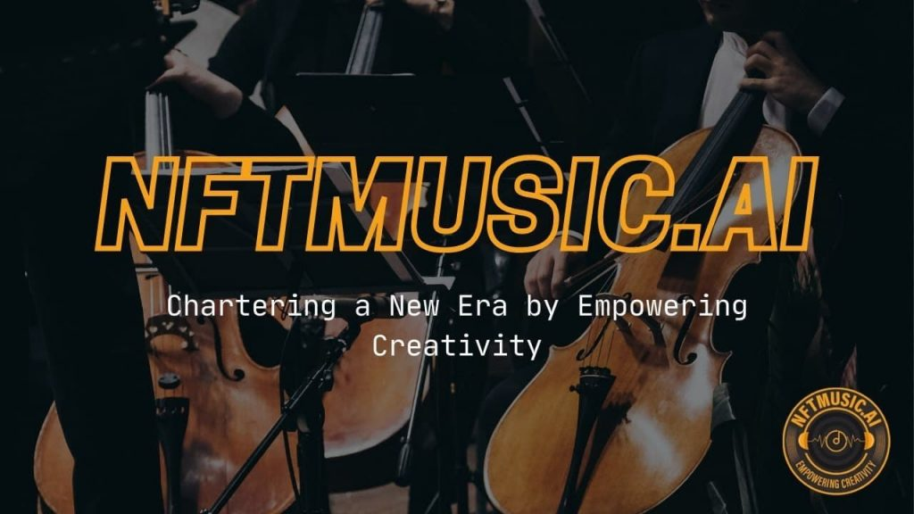 Classical musicians overlayed with NFTMUSIC.AI