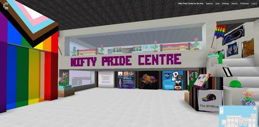Nifty Pride space in Cryptovoxels