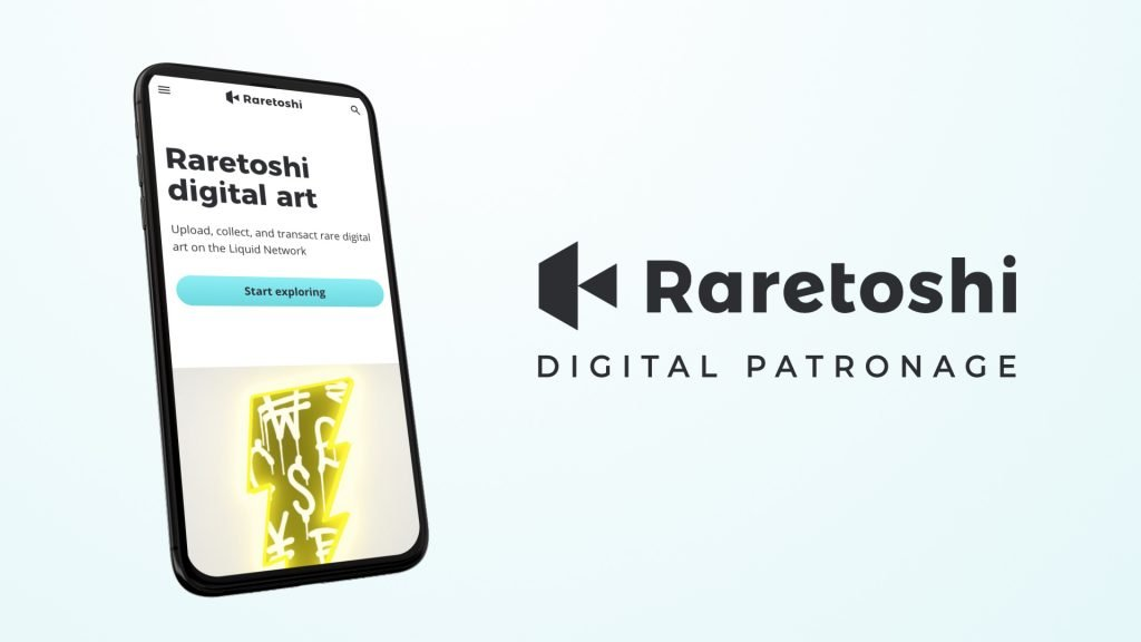 image of mobile phone with the word raretoshi beside it