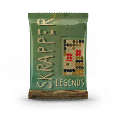Baseball card pack with Skrapper Legends on cover