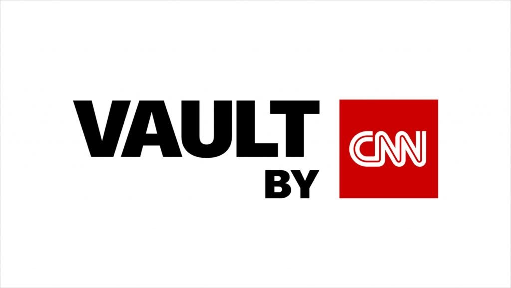 Words Vault by in black letters with CNN in red box on white background