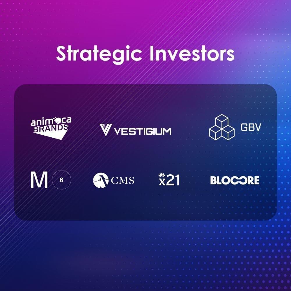 logos of strategic investors