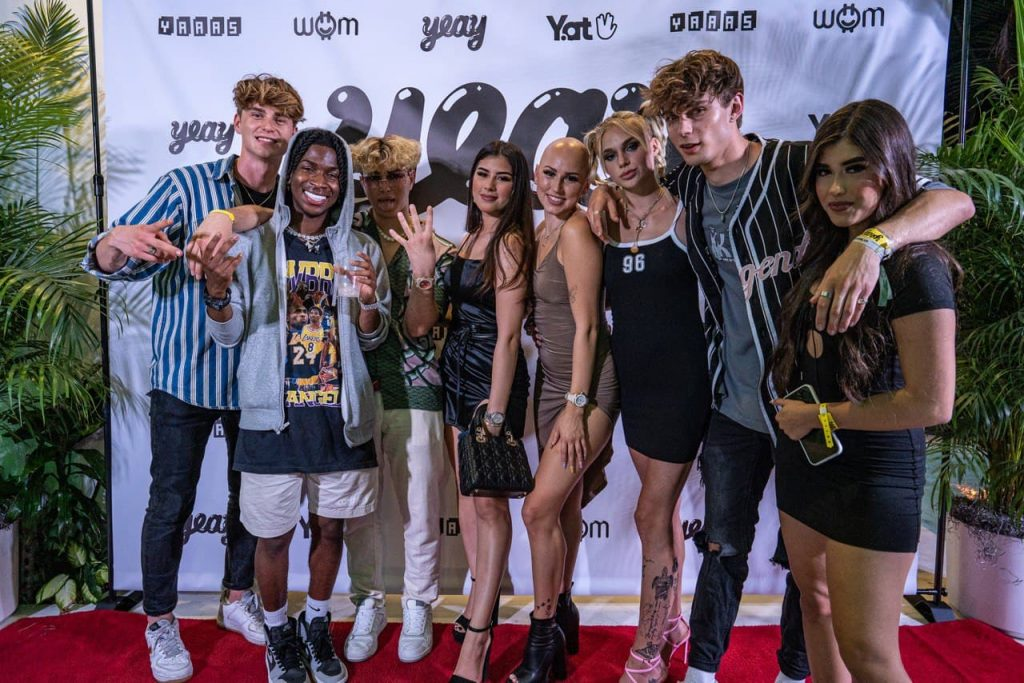Group of TikTok Influencers Standing Side by Side