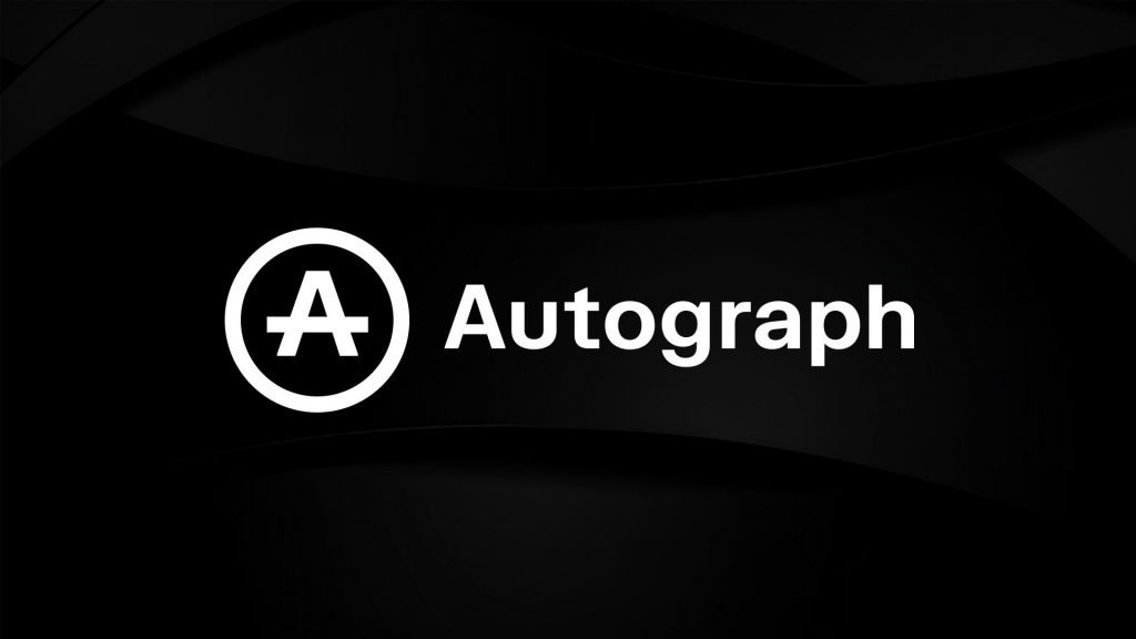Circle A and Word Autograph on solid background