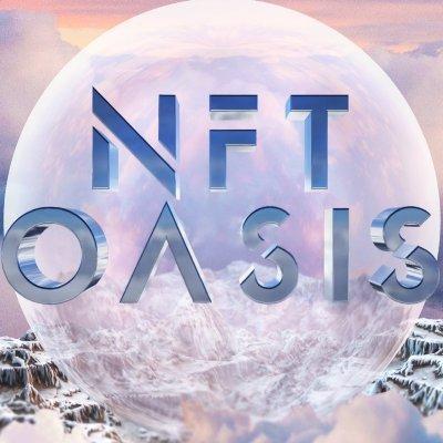 Words NFT Oasis over planet-like orb