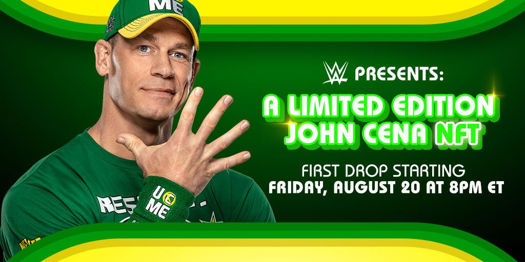 John Cena holds up hand with five fingers extended