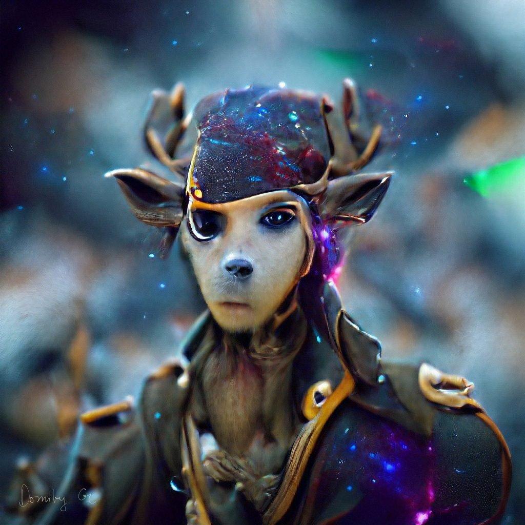 human character with deer-like head