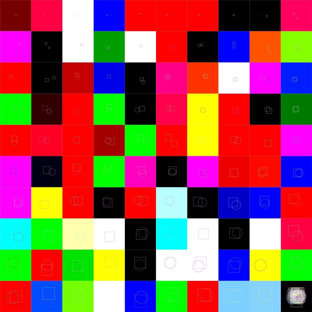 grid of colorful squares