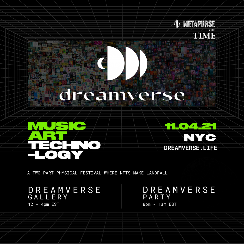 show poster with half moon symbols for dreamverse