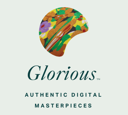 colorful painter's palette above the word Glorious