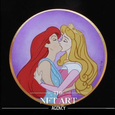 two fairy tale princesses make out