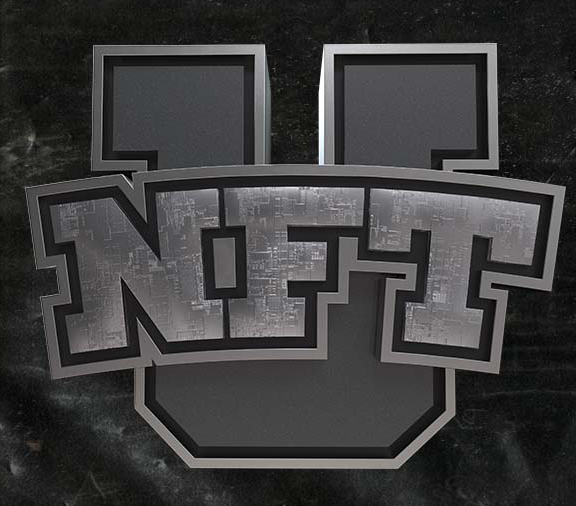 letters NFT overlaying tradition university letter U