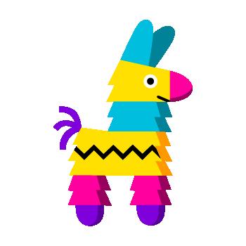 colorful illustration of cartoon llama